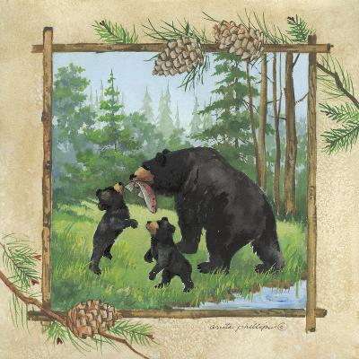Black Bears III-Anita Phillips-Art Print