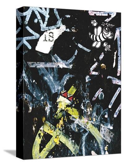 Black Bee Tag-Jenny Kraft-Stretched Canvas Print