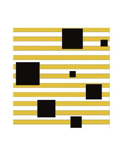 Black Block on Stripe-Dan Bleier-Art Print