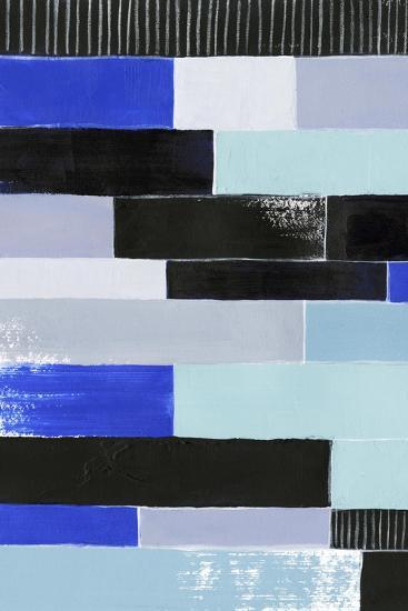 Black & Blue Bricks I-Grace Popp-Art Print