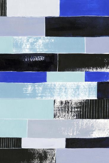Black & Blue Bricks II-Grace Popp-Art Print