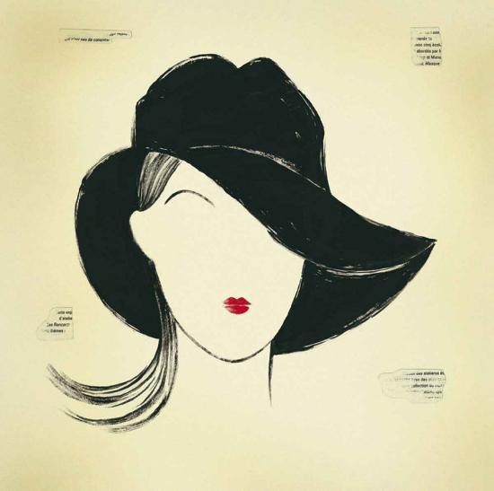 Black Borsalino-E^ Serine-Art Print