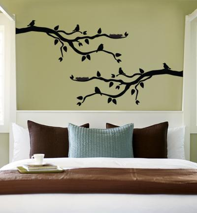 Black Branch With Birds--Wall Decal
