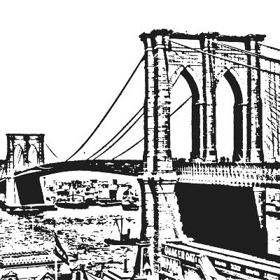 Black Brooklyn Bridge-Veruca Salt-Art Print
