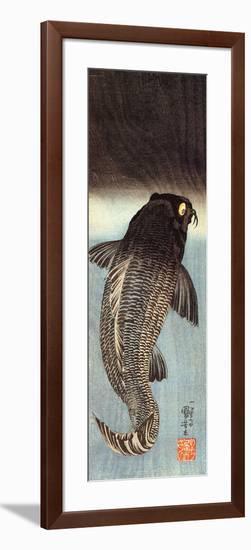 Black Carp-Kuniyoshi Utagawa-Framed Giclee Print