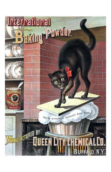 Black Cat Baking Powder-Tom Captain-Art Print