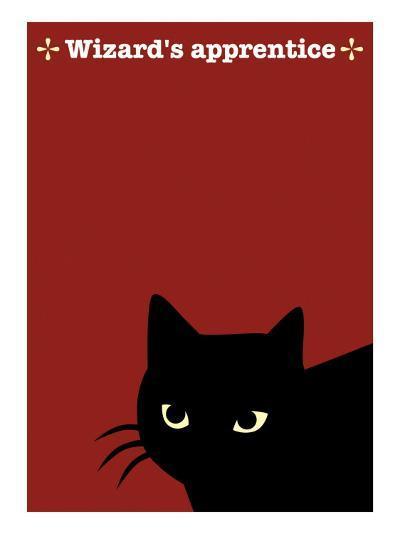 Black Cat in Red-Ikuko Kowada-Giclee Print