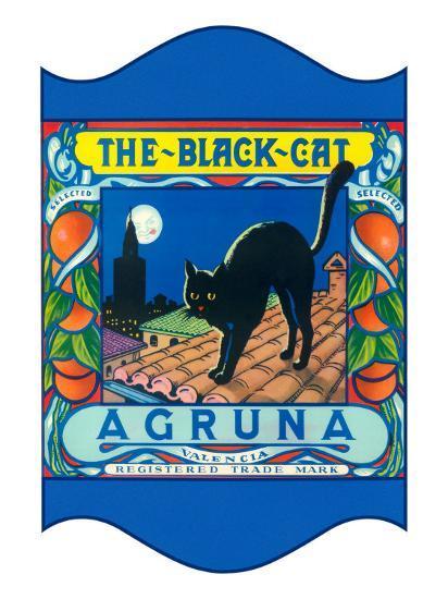 Black Cat Oranges--Art Print