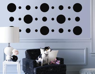 Black Circles--Wall Decal