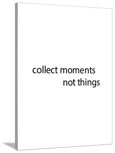 Black Collect Moments-Jetty Printables-Stretched Canvas Print