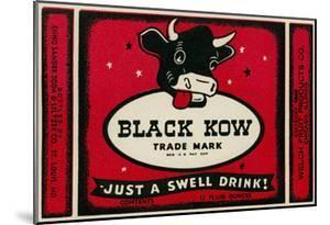 Black Cow Drink Label