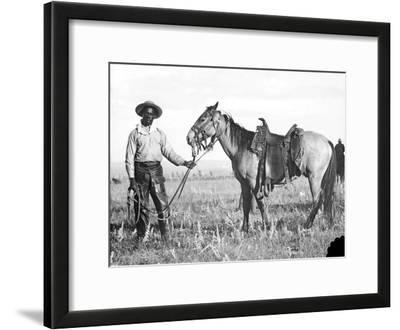 Black Cowboy and Horse, C.1890-1920