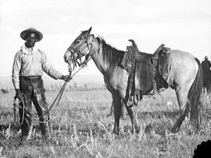 Black Cowboy and Horse, C.1890-1920