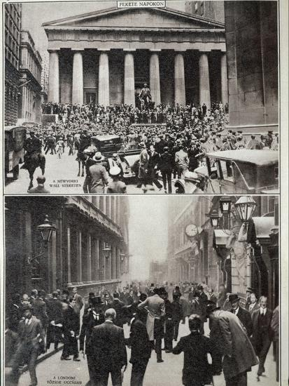 Black Days on Wall Street; the Stock Exchange in London at the Time of the Crash in 1929--Photographic Print