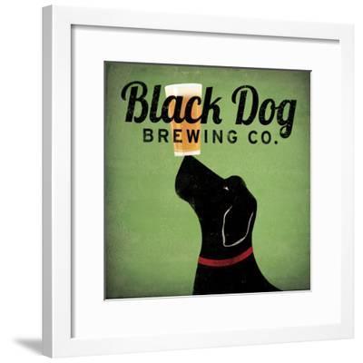 Black Dog Brewing Co on Green-Ryan Fowler-Framed Art Print