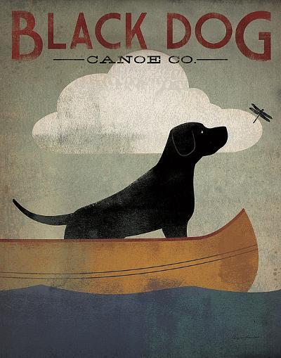 Black Dog Canoe Co.-Ryan Fowler-Art Print