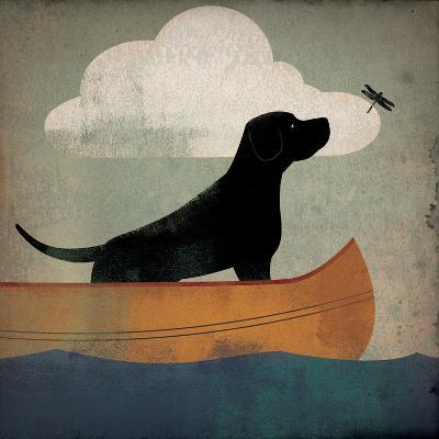 Black Dog Canoe Ride-Ryan Fowler-Art Print