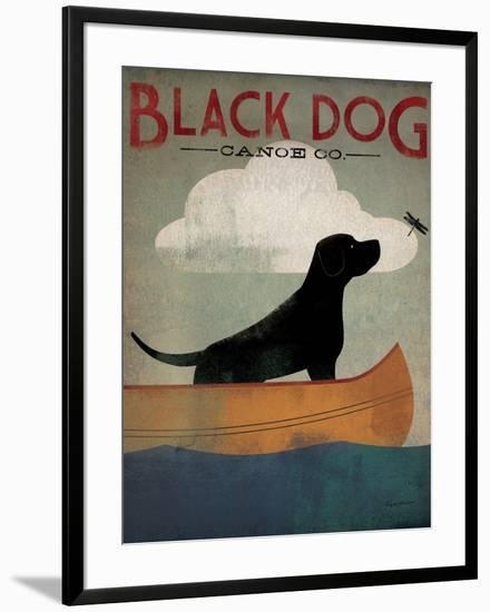 Black Dog Canoe-Ryan Fowler-Framed Art Print