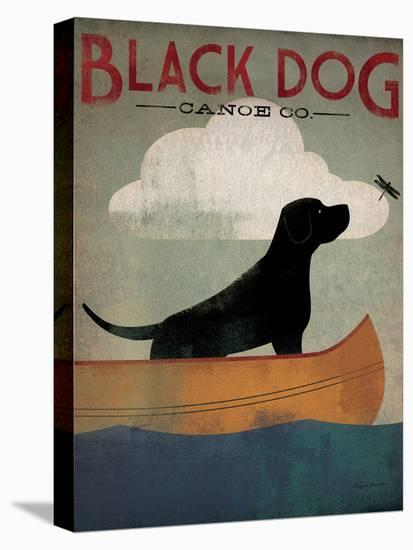 Black Dog Canoe-Ryan Fowler-Stretched Canvas Print