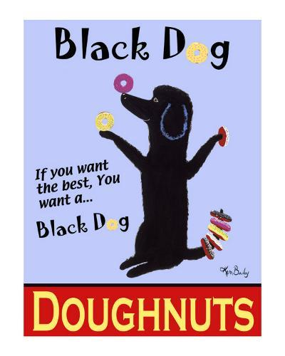 Black Dog Doughnuts-Ken Bailey-Collectable Print