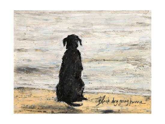 Black Dog Going Home-Sam Toft-Art Print