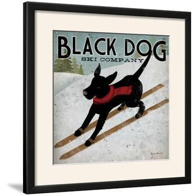 Black Dog Ski-Ryan Fowler-Framed Photographic Print