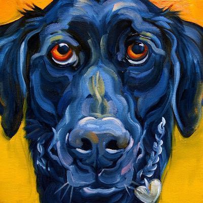 Black Dog-Connie R. Townsend-Art Print