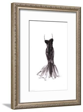 Black Dress with Flair-Tina-Framed Art Print