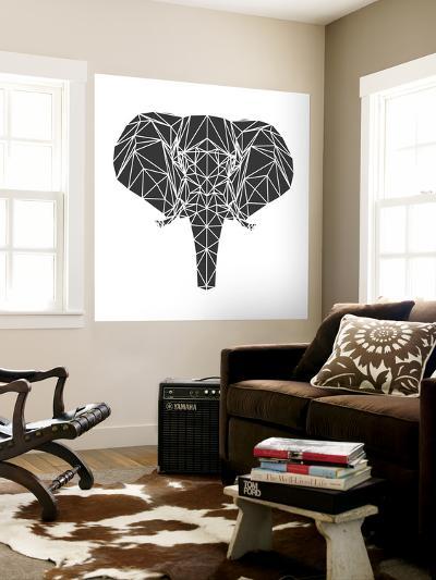 Black Elephant Polygon-Lisa Kroll-Wall Mural