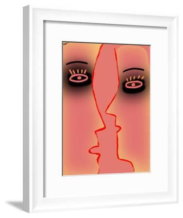 Black Eye-Pink Face-Diana Ong-Framed Giclee Print