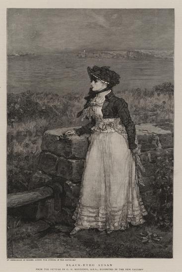 Black-Eyed Susan-George Henry Boughton-Giclee Print