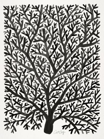 Black Fan Coral-Cat Coquillette-Giclee Print