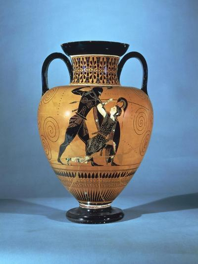 Black-Figure Pottery, Amphora Depicting Achilles and Penthesilea--Giclee Print
