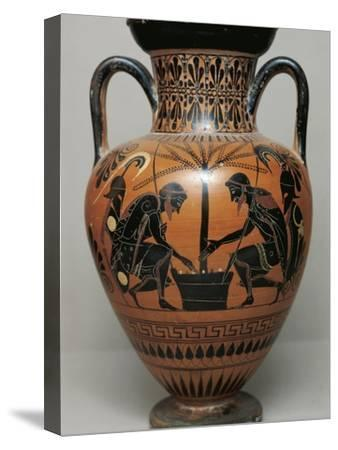 Black-Figure Pottery, Attic Amphora Depicting Achilles and Ajax Playing Dice