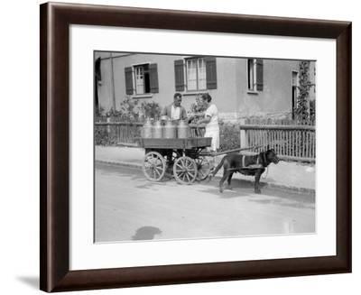 Black Forest Milk Cart--Framed Photographic Print