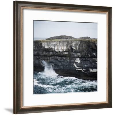 Black Fort, Aran Islands, County Galway, Connacht, Republic of Ireland, Europe-Andrew Mcconnell-Framed Photographic Print