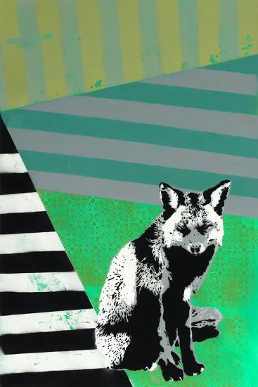 Black Fox-Urban Soule-Premium Giclee Print
