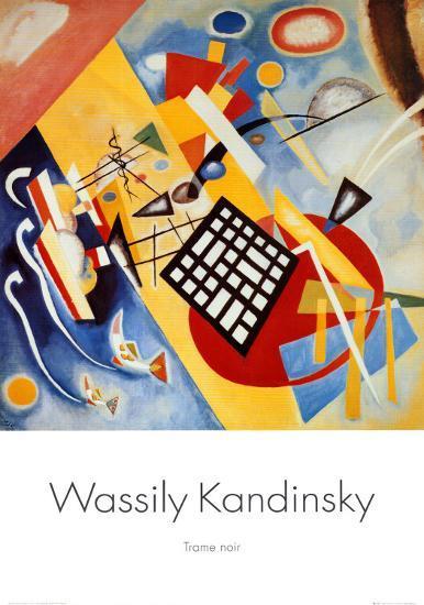 Black Frame-Wassily Kandinsky-Art Print