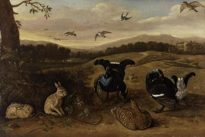 Black Game, Rabbits and Swallows in a Park, C.1700-Leonard Knyff-Giclee Print