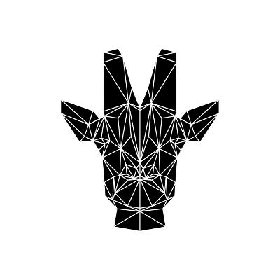 Black Giraffe-Lisa Kroll-Art Print