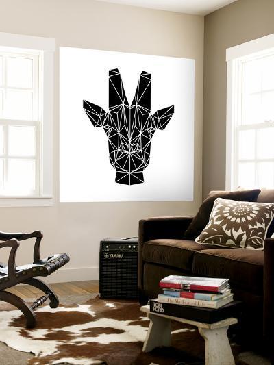 Black Giraffe-Lisa Kroll-Wall Mural