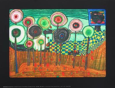 Black Girl, Discovery in the Kingdom of the Toros-Friedensreich Hundertwasser-Collectable Print