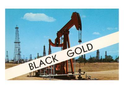 Black Gold, Oil Field--Art Print