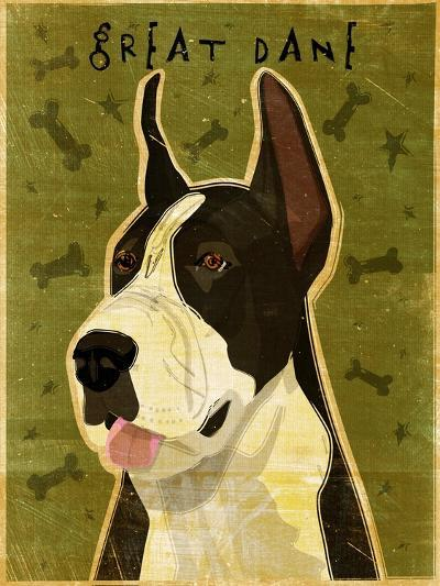 Black Great Dane-John W Golden-Giclee Print
