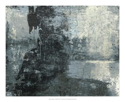 Black & Grey & Blue III-Studio W-Art Print