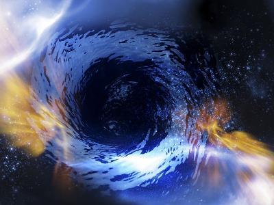 Black Hole, Conceptual Artwork-Victor Habbick-Photographic Print