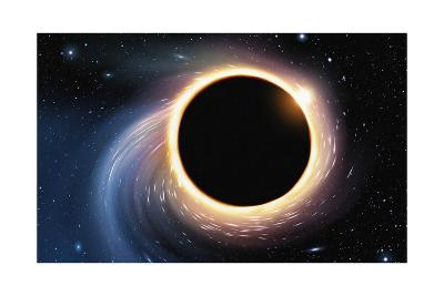 Black Hole - Digital Painting-anatomyofrockthe-Art Print