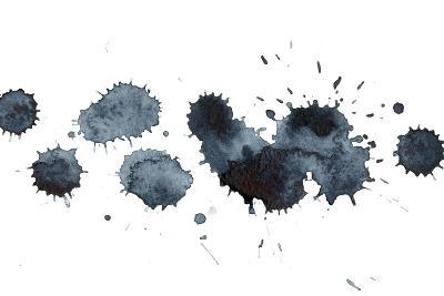 Black Ink Stains-ninanaina-Art Print