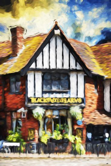 Black Inn - In the Style of Oil Painting-Philippe Hugonnard-Giclee Print