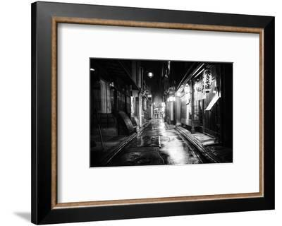 Black Japan Collection - Between two restaurants-Philippe Hugonnard-Framed Photographic Print